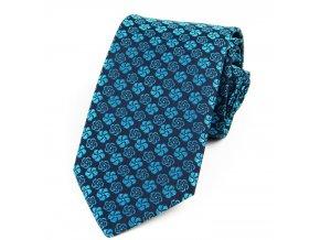 51401470 kravata modra tyrkys