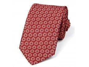 51401446 kravata kyticka cervena oranzova