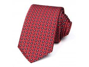 51401555 kravata kosoctverec cervena