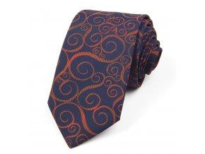51401664 kravata kracanky modra hneda
