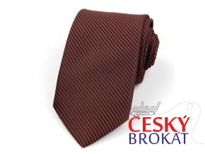 51401658 kravata prouzek hneda