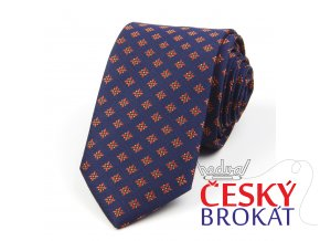 51401670 kravata kyticka modra hneda