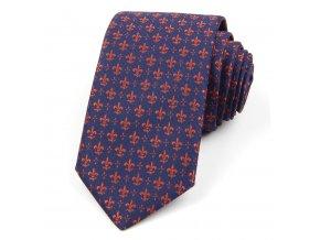 51401669 kravata lilie modra hneda