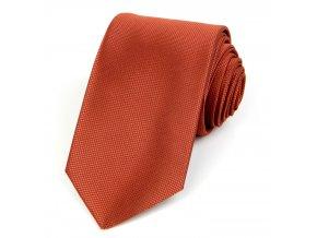 Kravata PESh 7 cm žakár rezavá