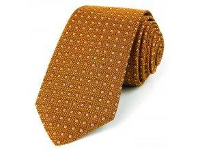 51401708 kravata kosoctverec oranzova