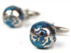 P01574 manzetove knoflicky zemekoule stribrna modra 1