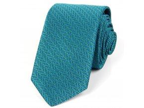51401727 kravata geometrie zelena modra