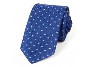 51401734 kravata ctverecek modra