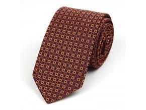51401774 kravata kolecko oranzova rezava