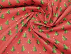 0637 latka vanocni stromek zelena cervena