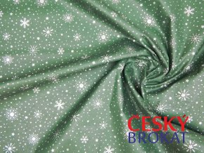 0695 latka vlocky zelena stribrna