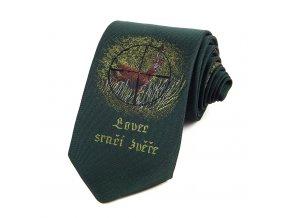 51401715 kravata myslivecka lovec srnci zvere zelena