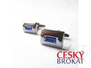 manzetove knoflicky stribrne modre 003
