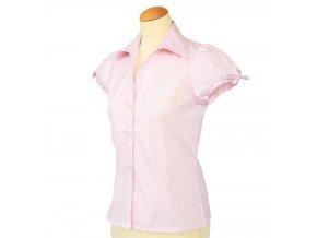 Dámská košile káro krátký rukáv