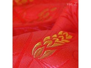 Církevní brokát 160 51056 kříž s klasy červená/zlatá