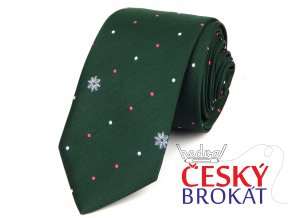51401830 kravata vlocka zelana