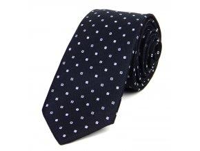 51401822 kravata ctverecek cerna
