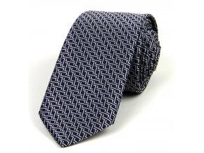 51401819 kravata geometrie cerna