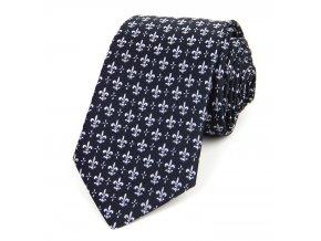 51401815 kravata lilie cerna