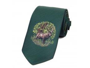 51401680 kravata myslivecka lovec srnci zvere zelena