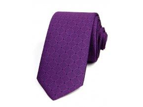 51401949 kravata puntik mrizka fialova