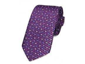 51401951 kravata geometrie trojuhelnik fialova