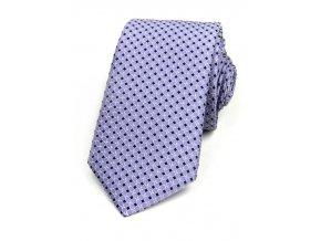 51401952 kravata ctverecek fialova