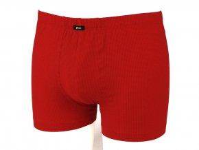 162090 500 panske slip s nohavickou karo kostka cervena