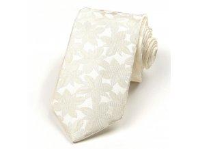 51400877 kravata kytky listky smetanova 1