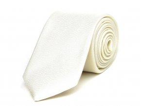 51402064 kravata hedvabi teckovana smetanova svatebni