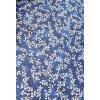 Plátno-tisk, modrá mram.přetisk kytička 100%bavlna, š.140