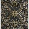 Historický brokát 160 51017 ČTYŘLÍSTEK černá