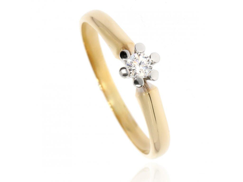 120 zlaty prsten se zirkonem