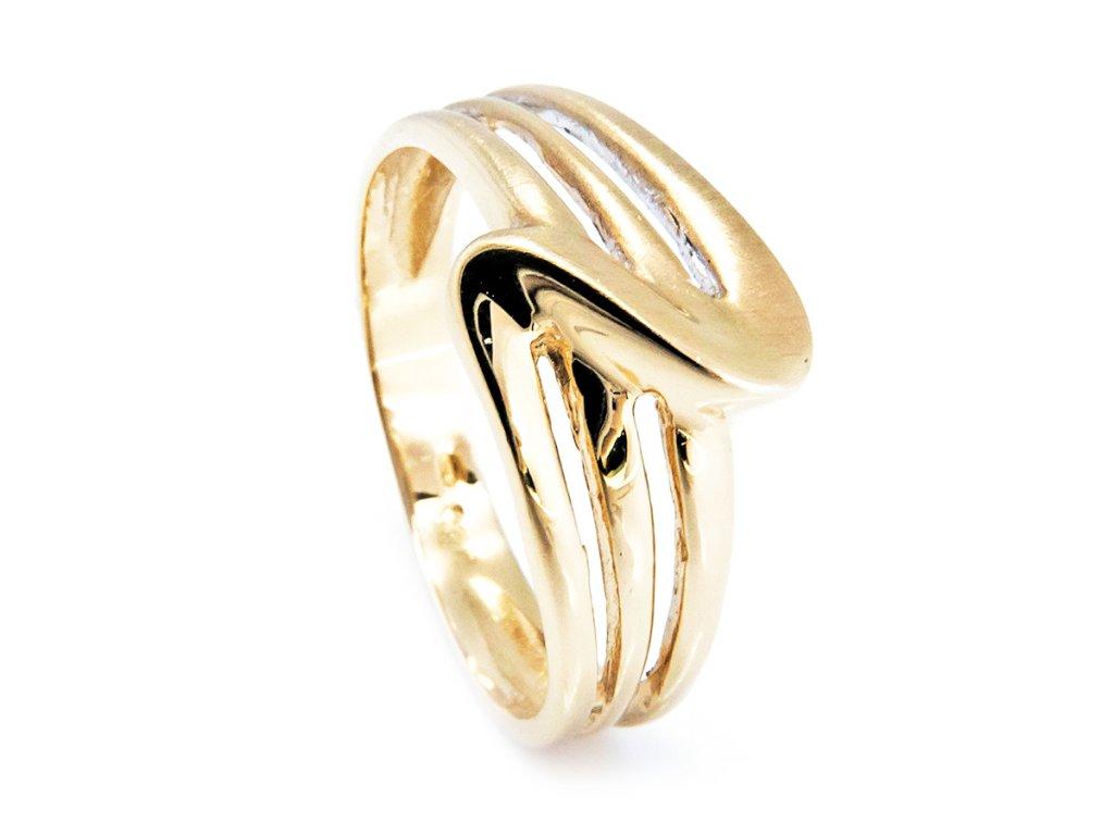 Prsten ze žlutého zlata B39168