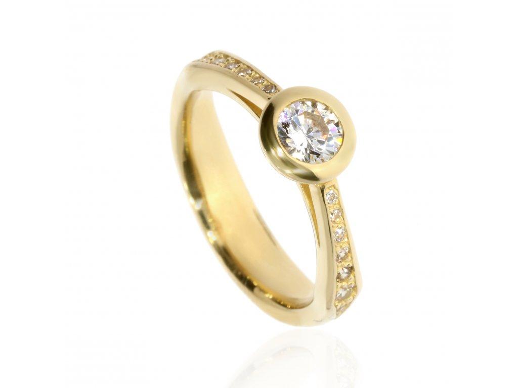 258 zlaty prsten se zirkony