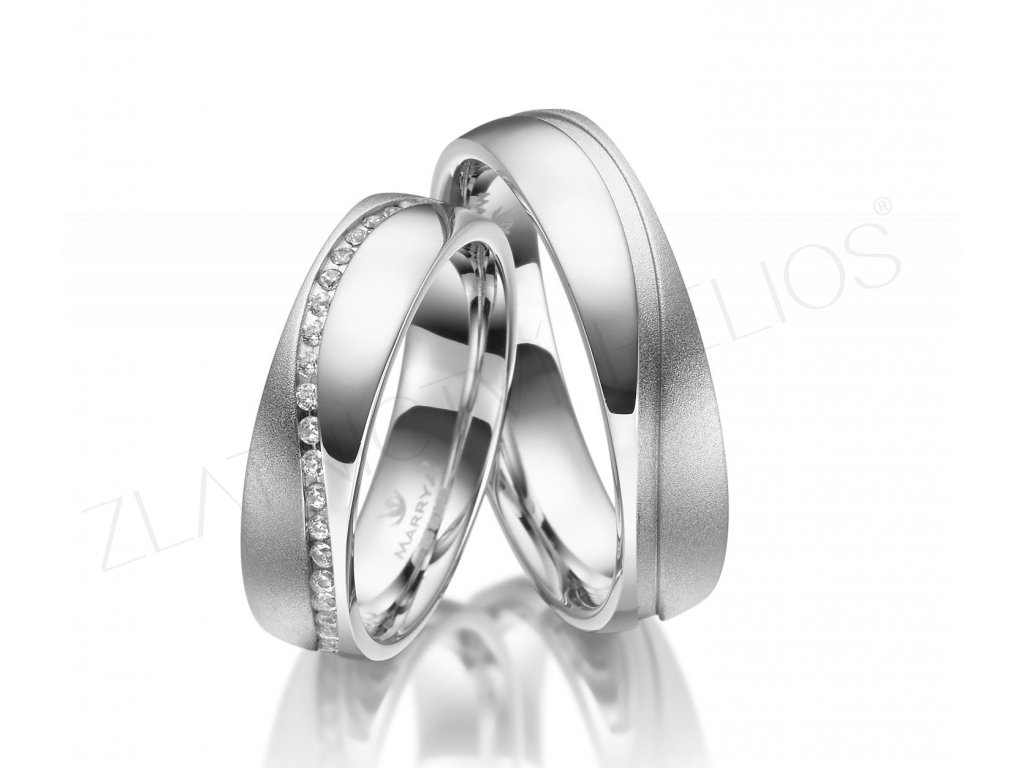 2813 stribrne snubni prsteny