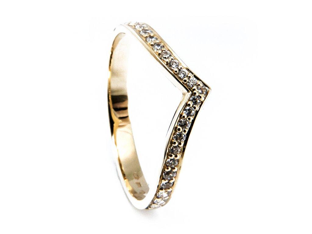 Zlatý snubní prsten dámský