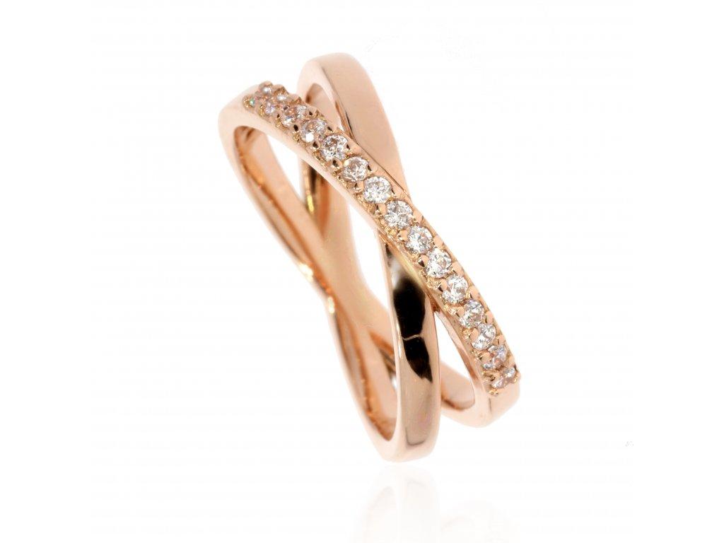 Zlatý snubní prsten dámský (Kameny Se Zirkony)