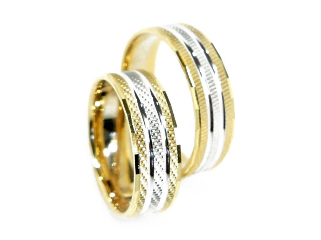 3122 zlate snubni prsteny
