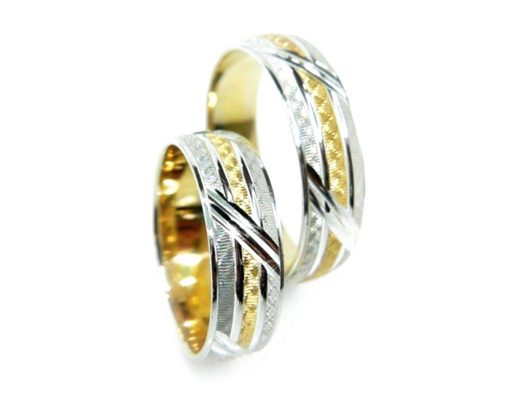 3263 1 zlate snubni prsteny
