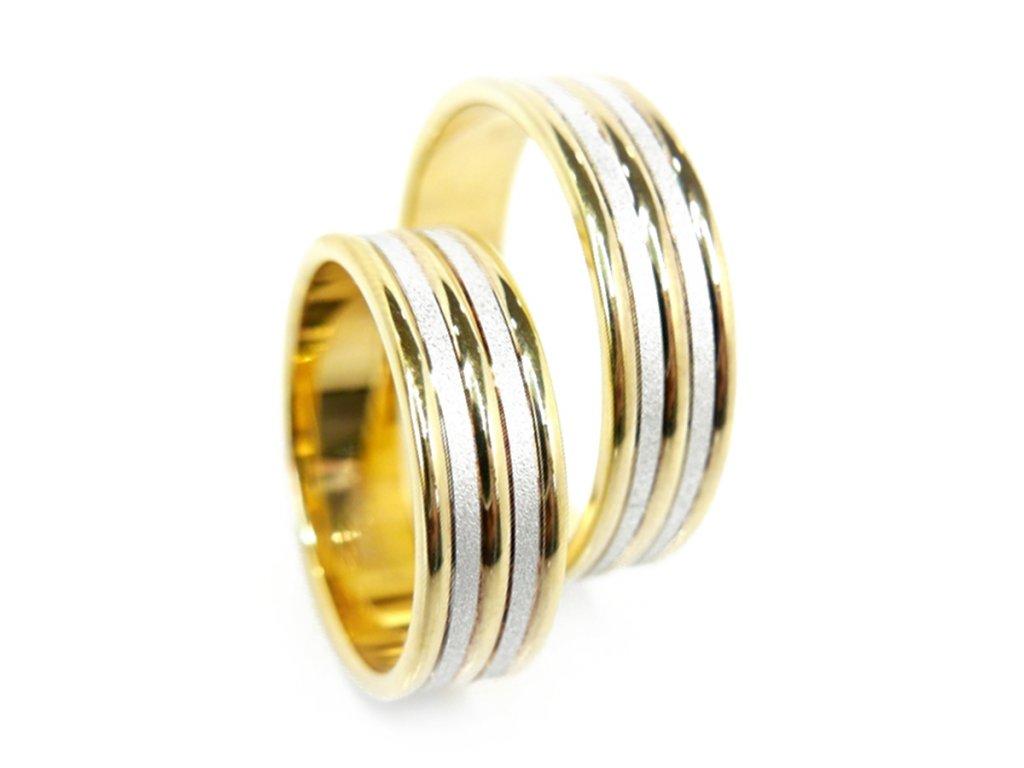 3299 2 zlate snubni prsteny