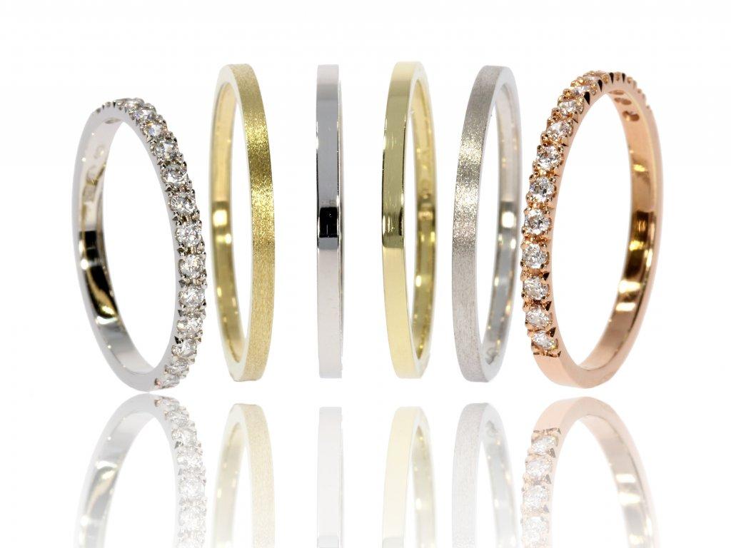 Zlaté snubní prsteny