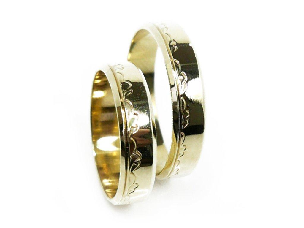 3371 1 zlate snubni prsteny