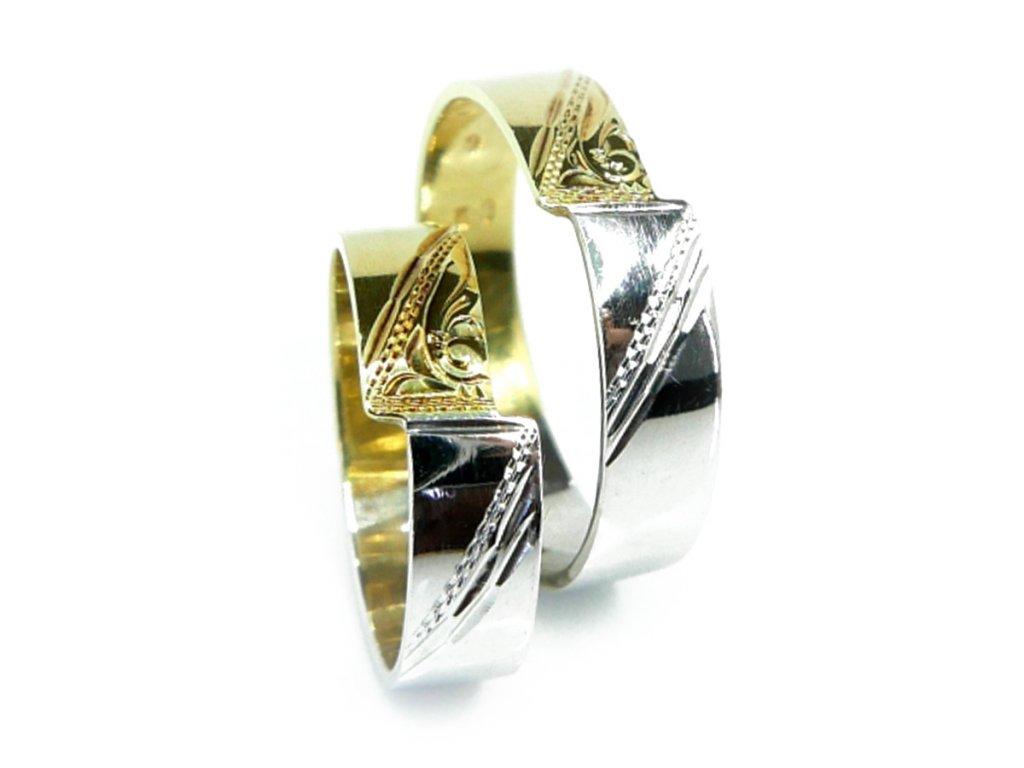 3914 1 zlate snubni prsteny