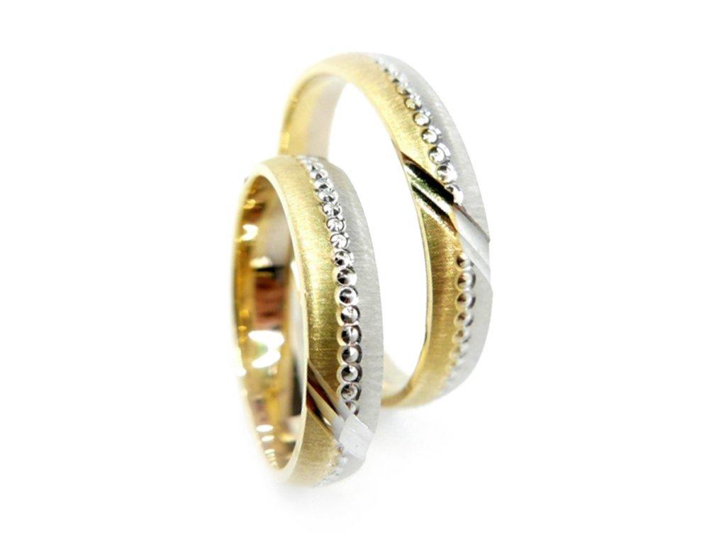 3944 2 zlate snubni prsteny