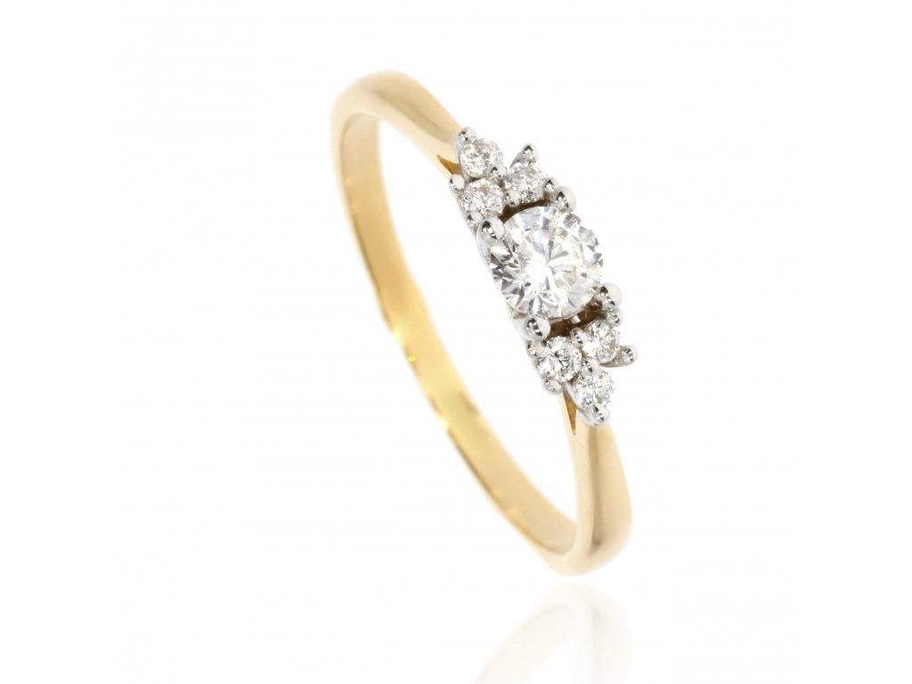 41511 zlaty prsten se zirkony