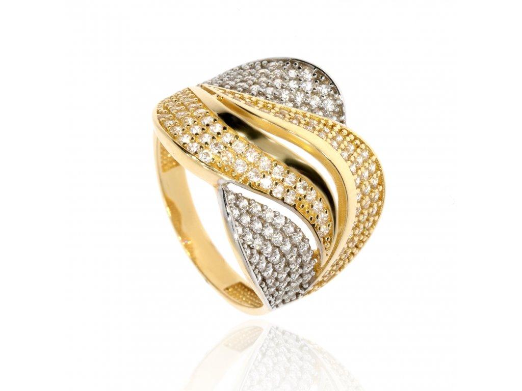 4169 zlaty prsten se zirkony