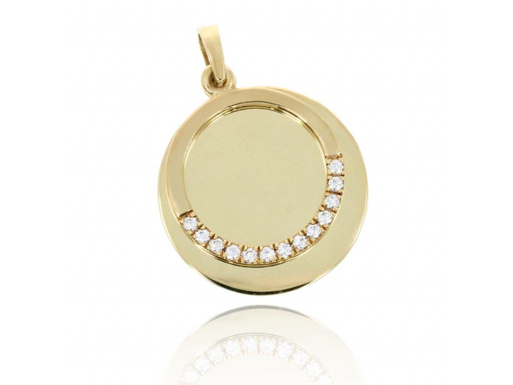 4250 zlaty privesek krouzek na ryti