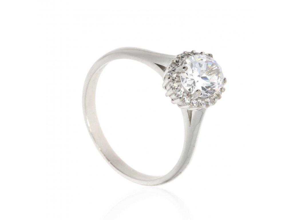 4361 zlaty prsten se stredovym ovalnym zirkonem