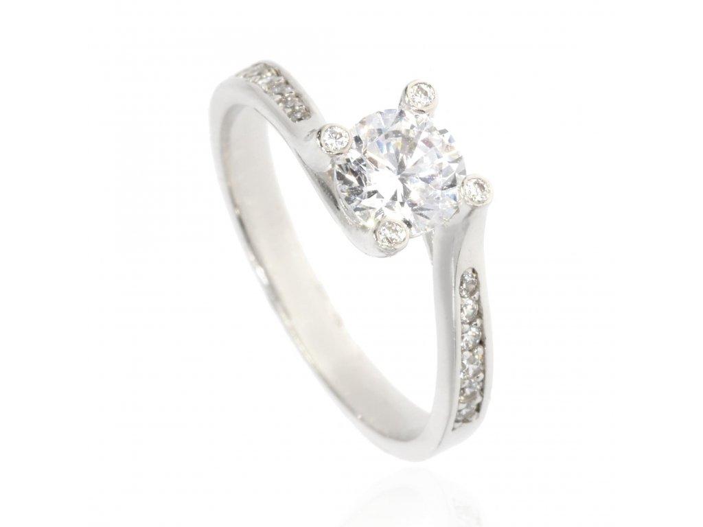 4637 zlaty prsten se zirkony